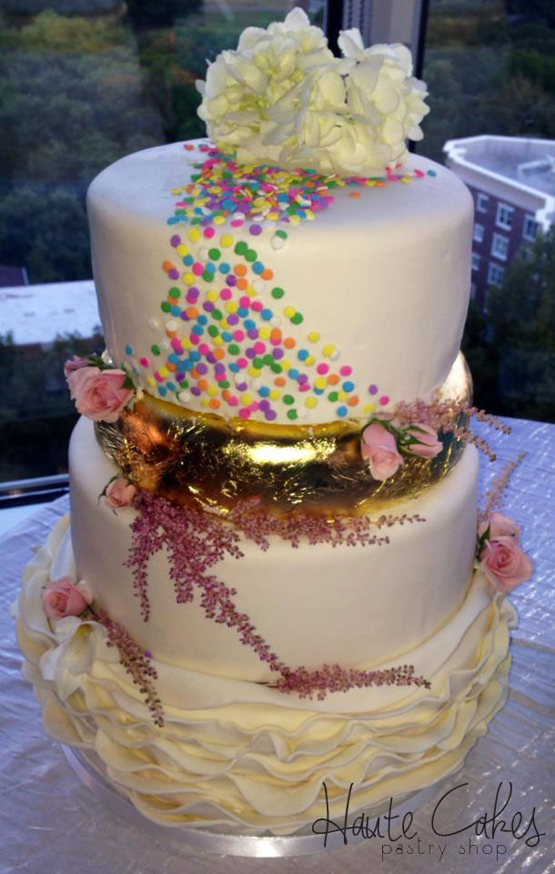 wedding cake with sprinkles northern va wedding cakes wedding cakes haute cakes 26963